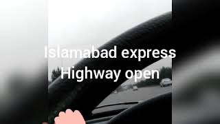 Islamabad expressway open