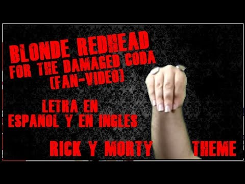 Blonde Redhead - For the Damaged Coda (fan-video) (letra en español y en ingles)