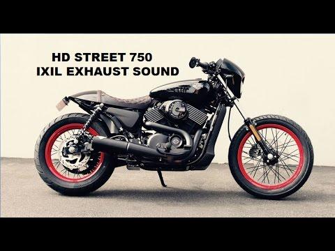 Harley Davidson street 750 Exhaust sound : IXIL IRONHEAD : Loud