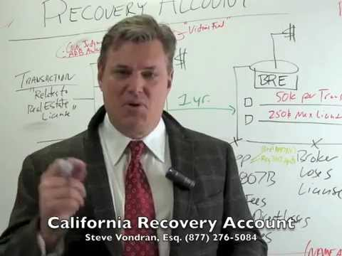 Legal Overview of California Real Estate Recovery Account