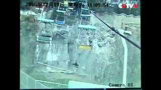 Video: Man jumps off chairlift into tiger enclosure in Henan zoo