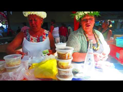 TOUR OF THE PAPEETE MARKET IN TAHITI - Sights & Sounds