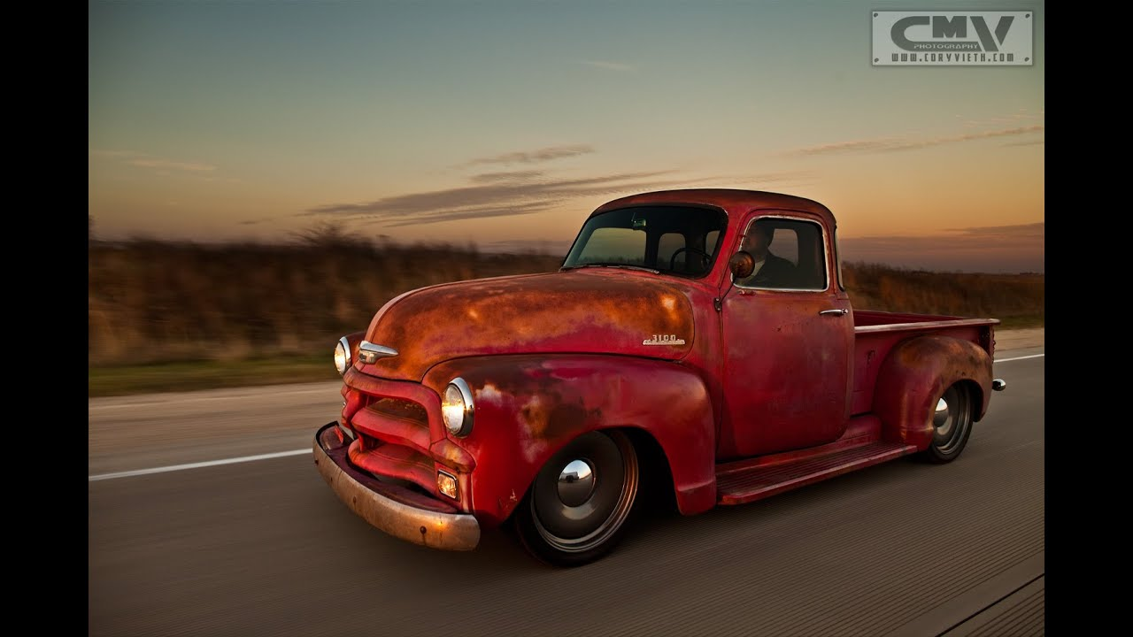 Stoner's Speed Shop 54 Chevy bagged pickup time lapse slammed go ...