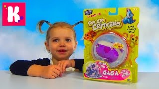 Мышка в шаре бегает на батарейках распаковка и играем Critters ball and Gaga toy unboxing