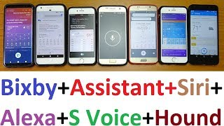 Bixby Voice Vs Assistant Vs Siri Vs Alexa Vs S Voice Vs Cortana Vs Hound (HD)