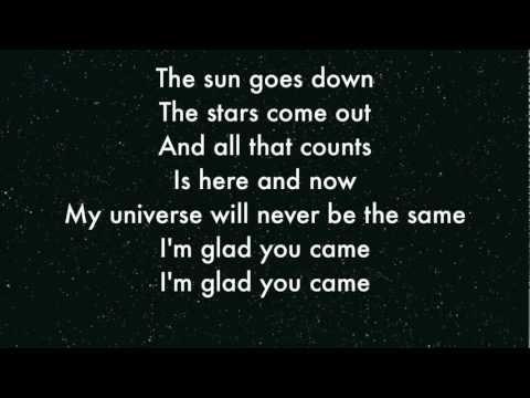 The Wanted - I'm Glad you came Lyrics