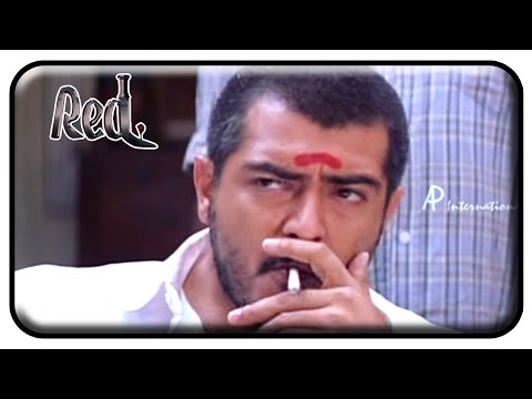 Red Tamil Movie | Scenes | Ajith Stabbed by Salim Ghouse | Priya Gill | Raghuvaran | Deva