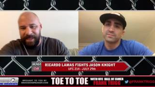 Frank Trigg pre-fight interview with UFC 214's Ricardo Lamas