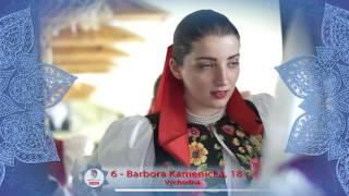 MISS FOLKLÓR 2017 | finalistka č. 6 | Barbora Kamenická