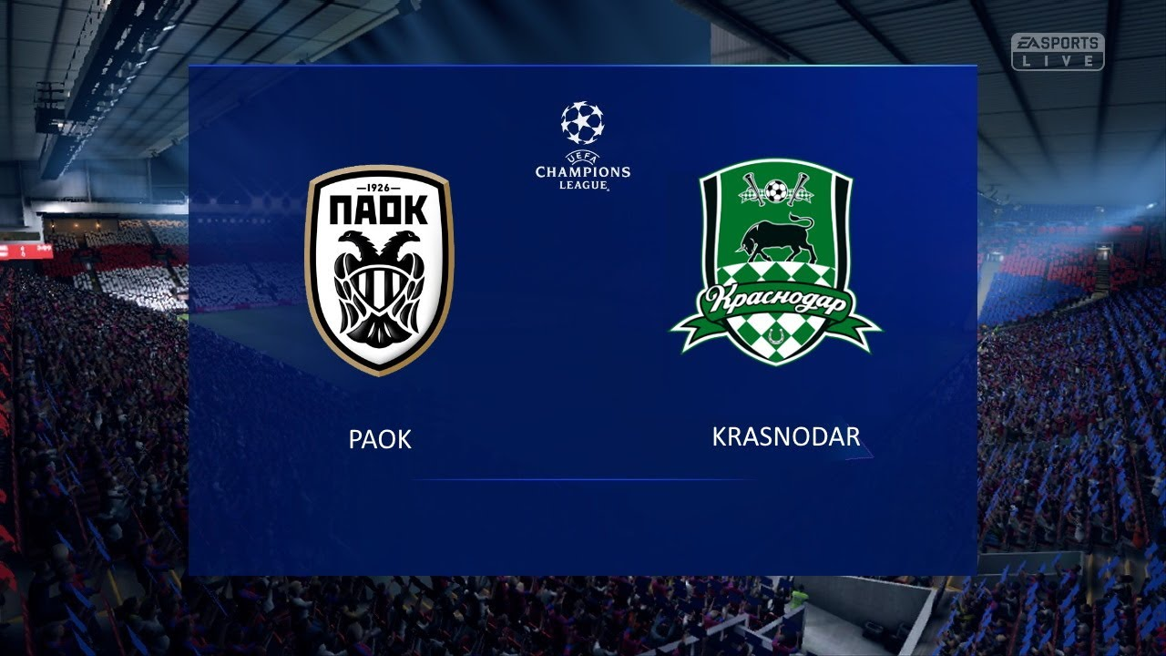 Paok Krasnodar Uefa Champions League 2020 2021 Play Off Round Youtube