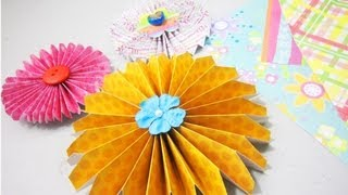 How to make simple paper rosettes  (✿ ♥‿♥) - EP - simplekidscrafts