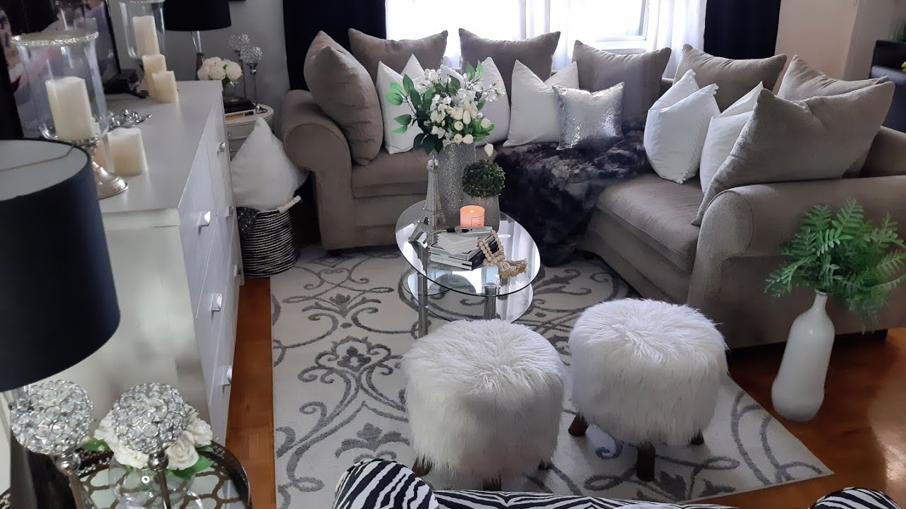 COZY NUETRAL GLAM LIVING ROOM TOUR / HOME DECOR LUXE CLUB   YouTube