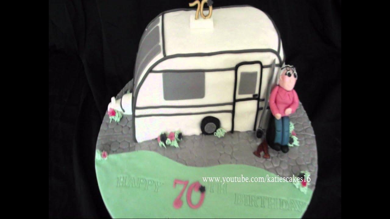 Cake Decoration Caravan : Carved Caravan Cake - YouTube