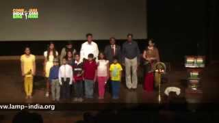 Group Singing of the National Anthem of India – Jana Gana Mana – in around 52 seconds