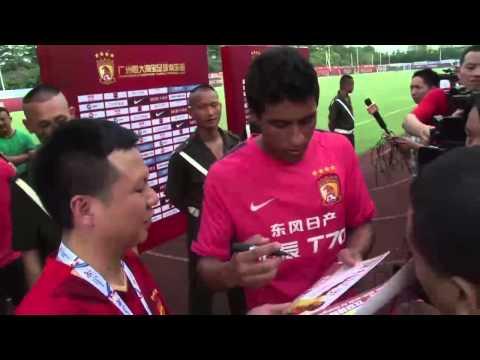 Paulinho introduced to Guangzhou Evergrande fans after Tottenham transfer