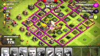 Clash Of Clans Level 6 Attack Giants pekka level 3