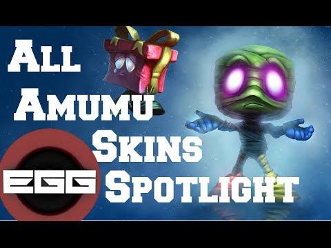 All Amumu Skins Spotlight - League of Legends Skin Review [HD]