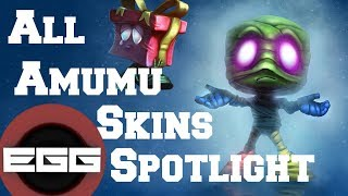 All Amumu Skins Spotlight - League of Legends Skin Review [HD]