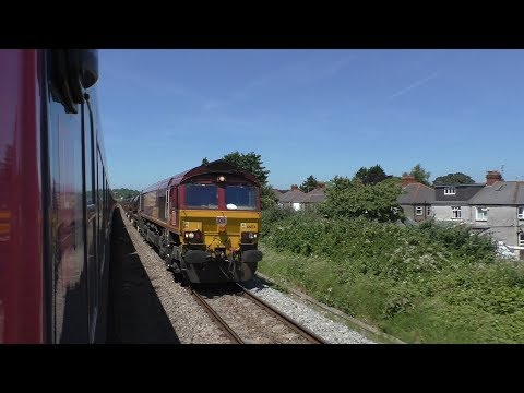 Cardiff to Bridgend on HST 43070 outside view of train June 17th 2017