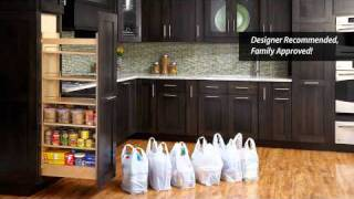 See Our Pullout Wood Pantry At Kbis 2011