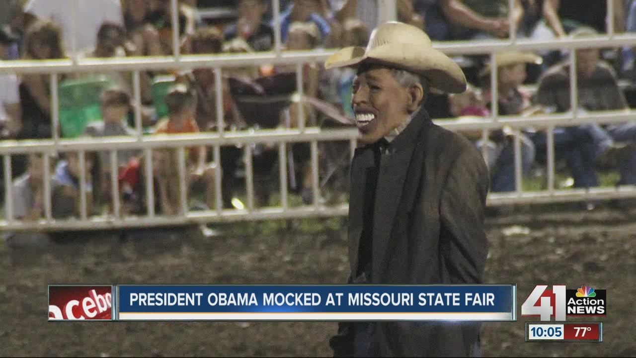 Rodeo Clown Dresses As Obama At Missouri State Fair Youtube