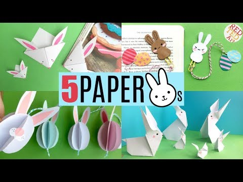 5 Paper Bunny DIYs - Cute & Easy Rabbit Crafts For Easter & Spring