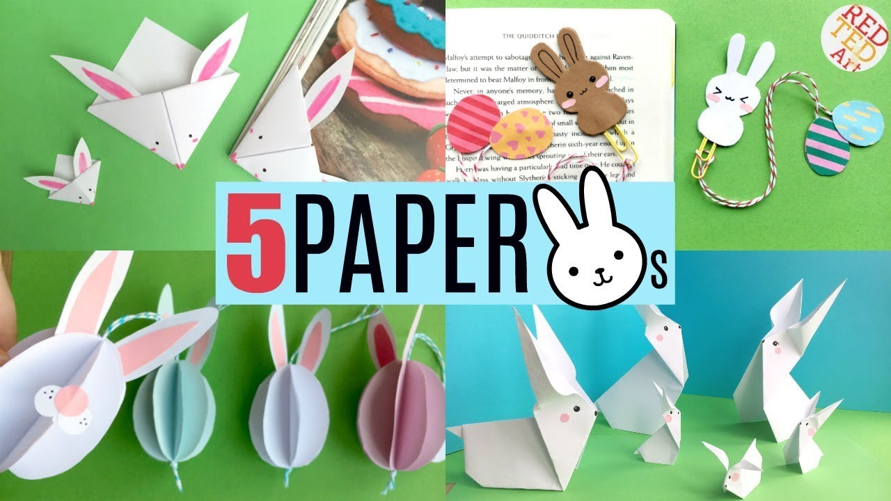 20 Paper Bunny DIYs   Cute & Easy Rabbit Crafts for Easter & Spring