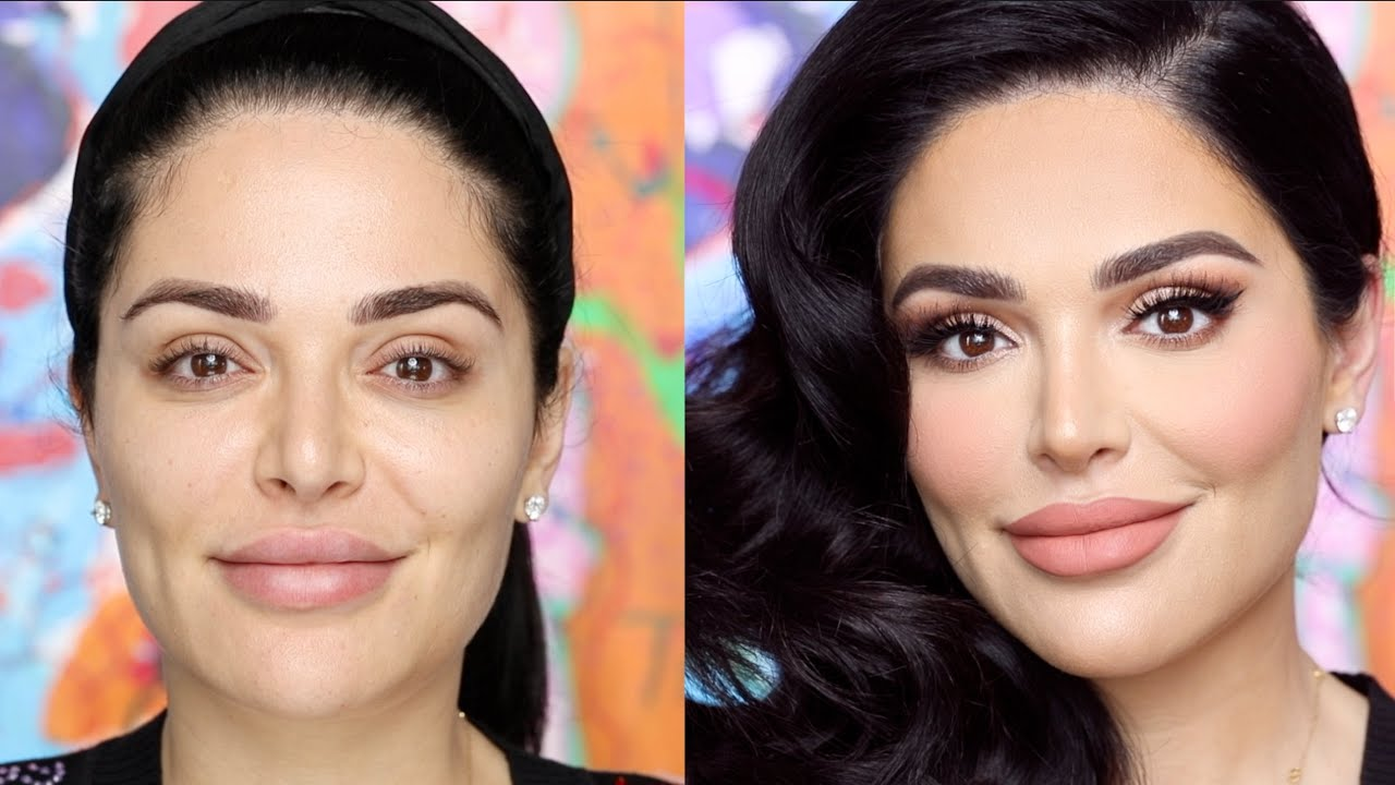 HOW I DO MAKEUP ON SHOOTS! (Featuring Mona Kattan) | Hindash