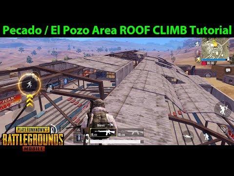 Pecado Arena / El Pozo Arena Roof Climb Tutorial   PUBG Mobile With DerekG
