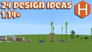 24 design Ideas for Minecraft 1.14 [18w43c]