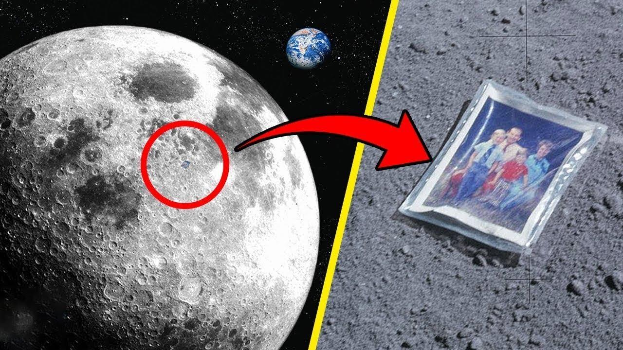 7 أشياء غريبة نسيها رواد الفضاء على القمر Youtube