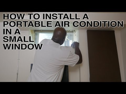 How To Install A Portable Air Condition In A Small Basement Window Youtube