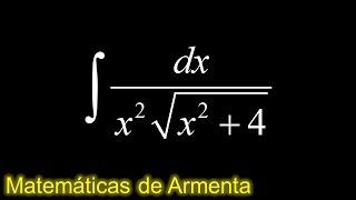 integracion por sustitucion trigonometrica ejemplo 4