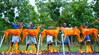 Download 5 FULL GOAT GRILL | Grilled Mutton Recipe Cooking in Village | Whole Lamb Roast with Mutton Meat