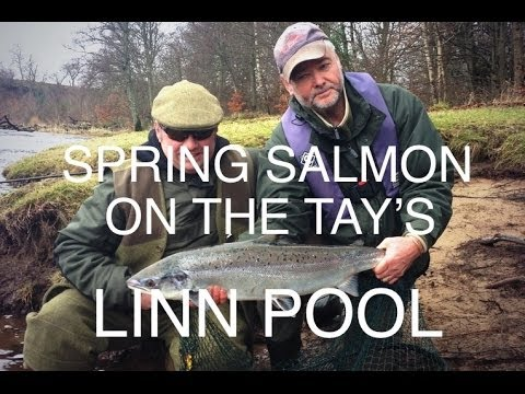 Epic spring salmon fishing on the River Tay in Perthshire - The Linn Pool on fire!