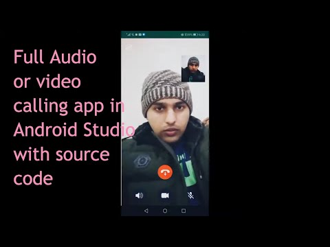how to create video or audio calling app android studio using sinch sdk