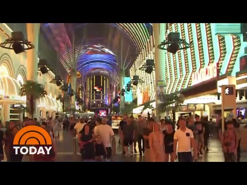 Swarms Of Grasshoppers Invading Las Vegas Strip | TODAY