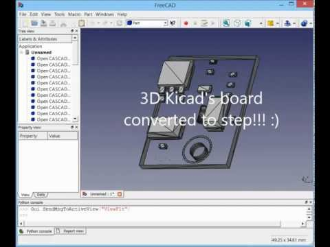 kicad 3D wrl to step howto