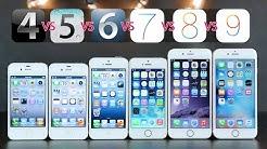 iPhones Compared on Original iOS Versions - iOS 4 vs 5 vs 6 vs 7 vs 8 vs 9!