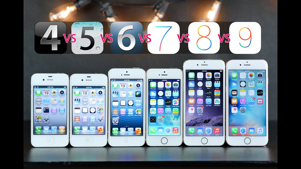 Brilliant Iphone 1 2 3 4 5 6 7 Iphones Compared On Original Ios Versions Vs 2669379047 Intended