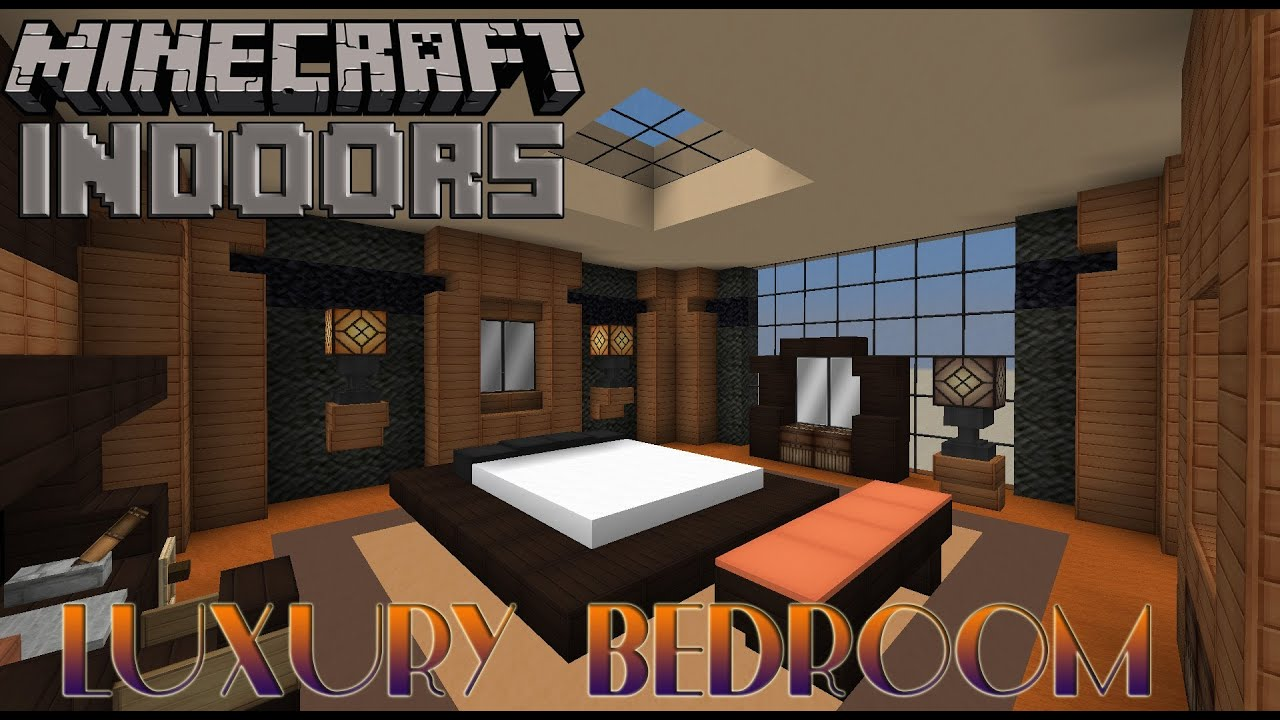 Luxury bedroom minecraft indoors interior design youtube for Minecraft house interior living room