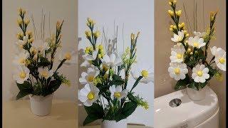 Kerajinan tangan bunga dari kantong plastik || Kreasinya Idetrik