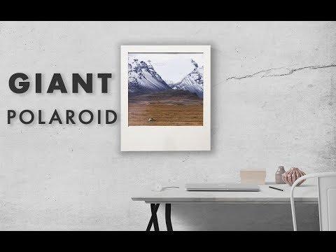DIY Giant Polaroid Picture Frame