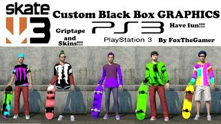 New skate 3 PS3 blackbox skins and board save!!!