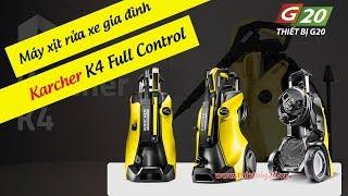 Máy rửa xe gia đình Italy Karcher K4 Full Control | Máy xịt rửa mini chính hãng giá rẻ
