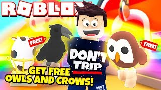 How to Get a FREE Legendary OWL and CROW in Adopt Me! NEW Adopt Me Farm Egg Update (Roblox)