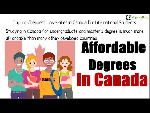 Top 10 Cheapest Universities In Canada For International Students