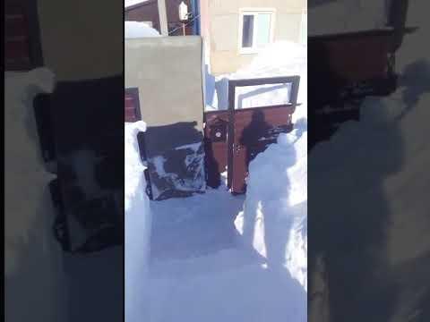 Снежные заносы в Саратовской области.