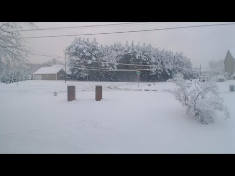South East US Georgia Snow December 2017