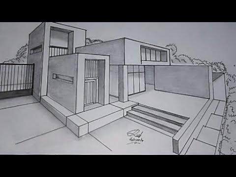 arsitektur 2- cara membuat sketsa rumah - youtube